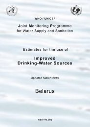 Belarus - WHO/UNICEF Joint Monitoring Programme