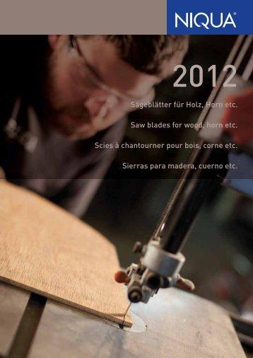 Katalog Holz (PDF) - Niqua GmbH