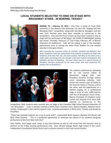 02.13.11 - Kerrville Performing Arts Society