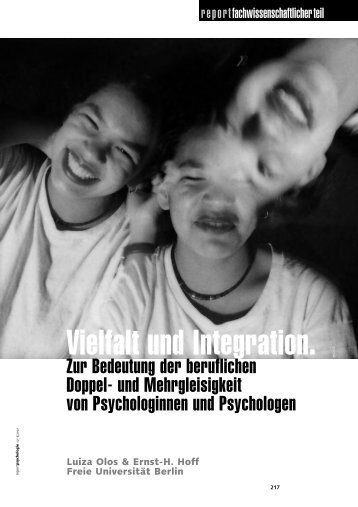 Vielfalt und Integration. - Deutscher Psychologen Verlag GmbH