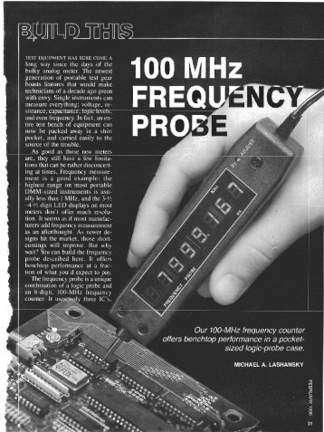 100MHz Frequency Probe.pdf - ePanorama.net