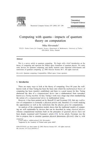 Computing with quanta—impacts of quantum theory ... - ResearchGate