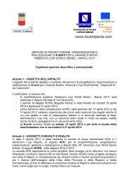 Capitolato - Comune di Napoli