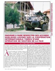 parvenir à faire respecter des accords - Revue militaire canadienne