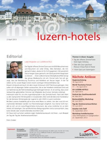 Newsletter 02/13 (PDF, 1.5 MB) - Luzern Hotels