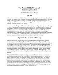 The Populist I&R Movement - Initiative and Referendum Institute