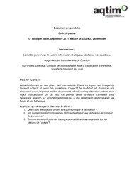 Document de présentation - aqtim