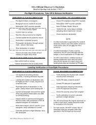SSA Official Observer's Checklists - Skyline Soaring Club