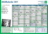 Abfallkalender 2011 Abfallwirtschaftsbetrieb - Bad Teinach-Zavelstein