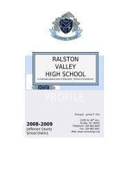 PROFILE - Ralston Valley High School
