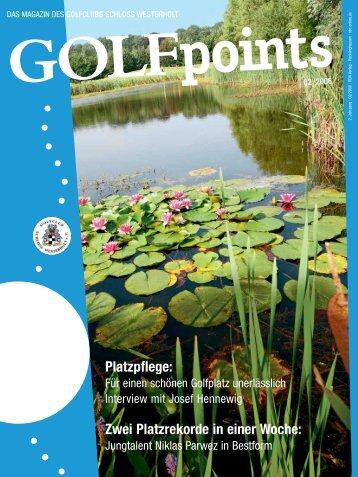 Golfpoints 2_08 okay.qxd - Golfclub Schloss Westerholt eV