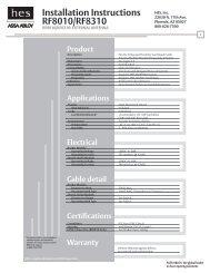 RF8010/RF8310 Installation Instructions - Assa Abloy