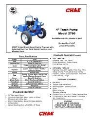 """4"""" Trash Pump Model 2760 - BBC Pump and Equipment"""