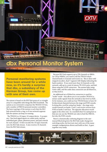 dbx Personal Monitor System - Jands