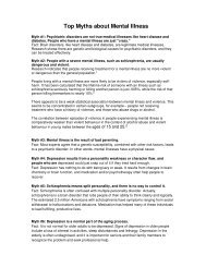 Top Myths about Mental Illness - IIT Mandi