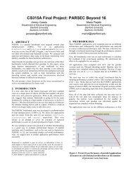 CS315A Final Project: PARSEC Beyond 16 - Stanford PPL ...