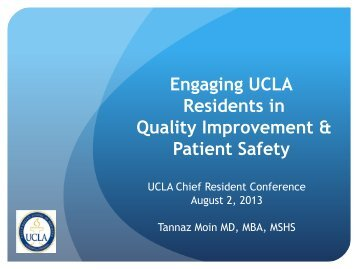Quality Improvement & Patient Safety - Graduate Medical Education ...