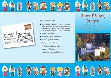 Ritter, Räuber, Burgen Ritter, Räuber, Burgen - Gemeinde Eschen
