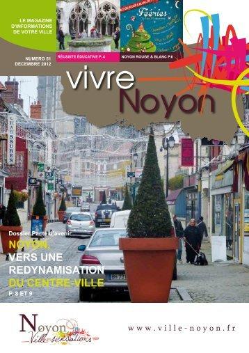décembre 2012 / Vivre noyon n° 51 - Ville de Noyon