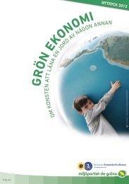 Grön ekonomi - Miljöpartiet de gröna