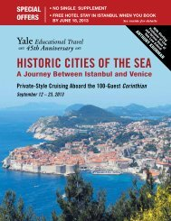 HISTORIC CITIES OF THE SEA - Yale University