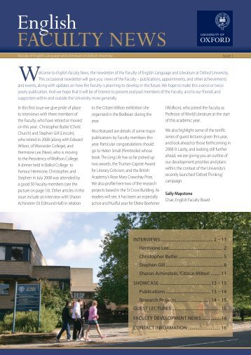 ELL News - Issue 1.indd - English at Oxford - University of Oxford