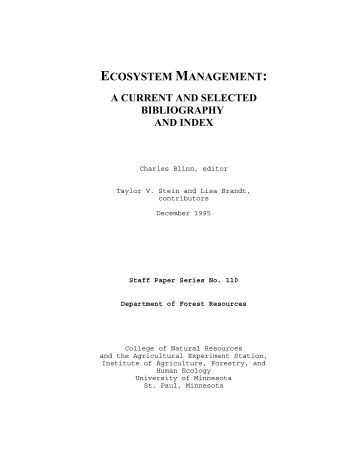 Selected bibliography research proposal
