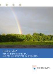 Pjece om demens fra Haderslev Kommune