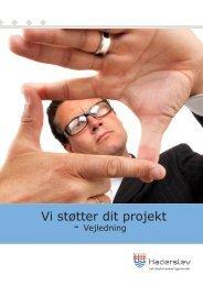 Vi støtter dit projekt - Vejledning - Haderslev Kommune
