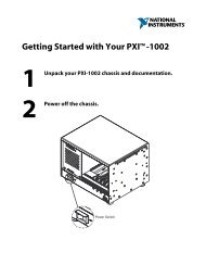 Getting Started with Your PXI-1002  - National Instruments