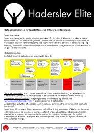 Optagelseskriterier - Haderslev Elitesport - Haderslev Kommune