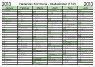 Politisk mødekalender 2013 - Haderslev Kommune
