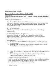 Bestyrelsesmøde. Referat. Tirsdag den 2. november 2010 kl. 17.00 ...