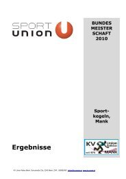 Bundesmeisterschaften 2010 - KV Union Raiffeisen Mank