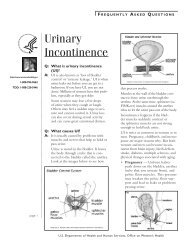 Urinary incontinence fact sheet - WomensHealth.gov