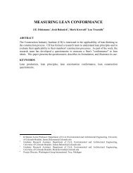 MEASURING LEAN CONFORMANCE - Lean Construction