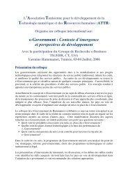 e-Government : Contexte d'émergence et perspectives de ...