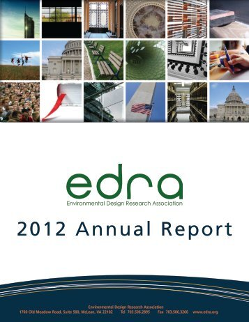 2012 Annual Report - Environmental Design Research Association