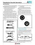 AVX Piezoelectric Acoustic Generators Catalog - Page 3