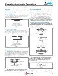 AVX Piezoelectric Acoustic Generators Catalog - Page 4
