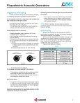AVX Piezoelectric Acoustic Generators Catalog - Page 6