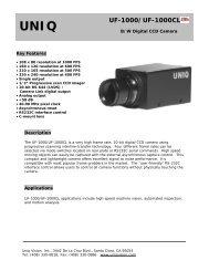 UNIQ UF-1000/UF-1000CL - Image Labs International