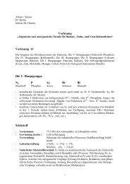 Vorlesung Vorlesung 13 Die V. Hauptgruppe N2 P - Doccheck ...