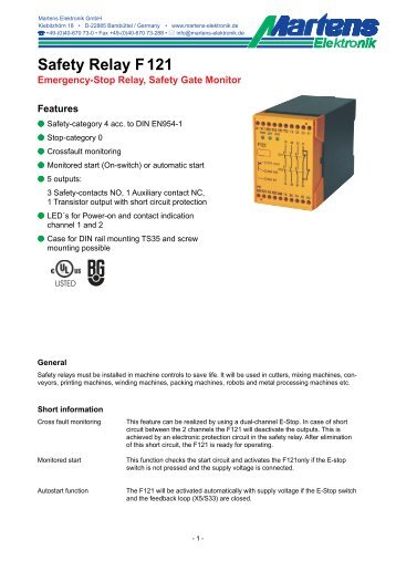 F121-01- Prospekt - Martens Elektronik GmbH