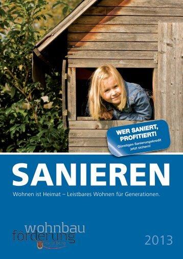 Sanieren 2013 - Vorarlberg