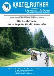 Kastelruther Gemeindebote - Oktober 2005 (1,2 Mb)