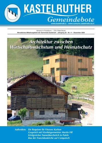 Kastelruther Gemeindebote - Dezember 1. Teil