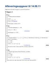 Afleveringsopgaver til 14.09.11 - matematikfysik