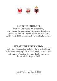 Zwischenbericht - Consiglio della provincia autonoma di Trento