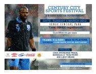 *Discount for all Century City Soccer League teams